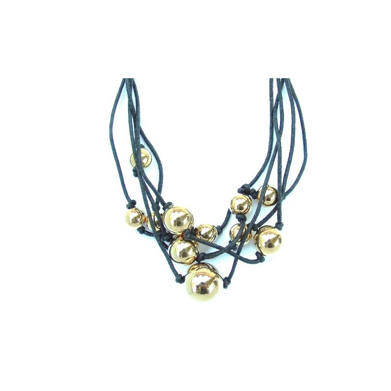 Bransoletka złote perły