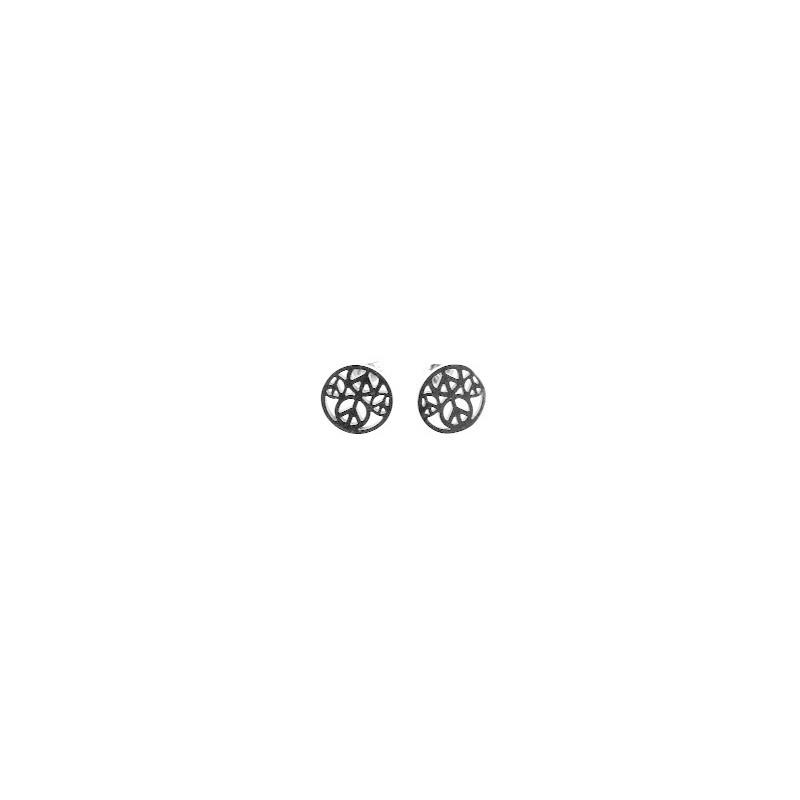 Náušnice oceľové okrúhle kôstky Peace