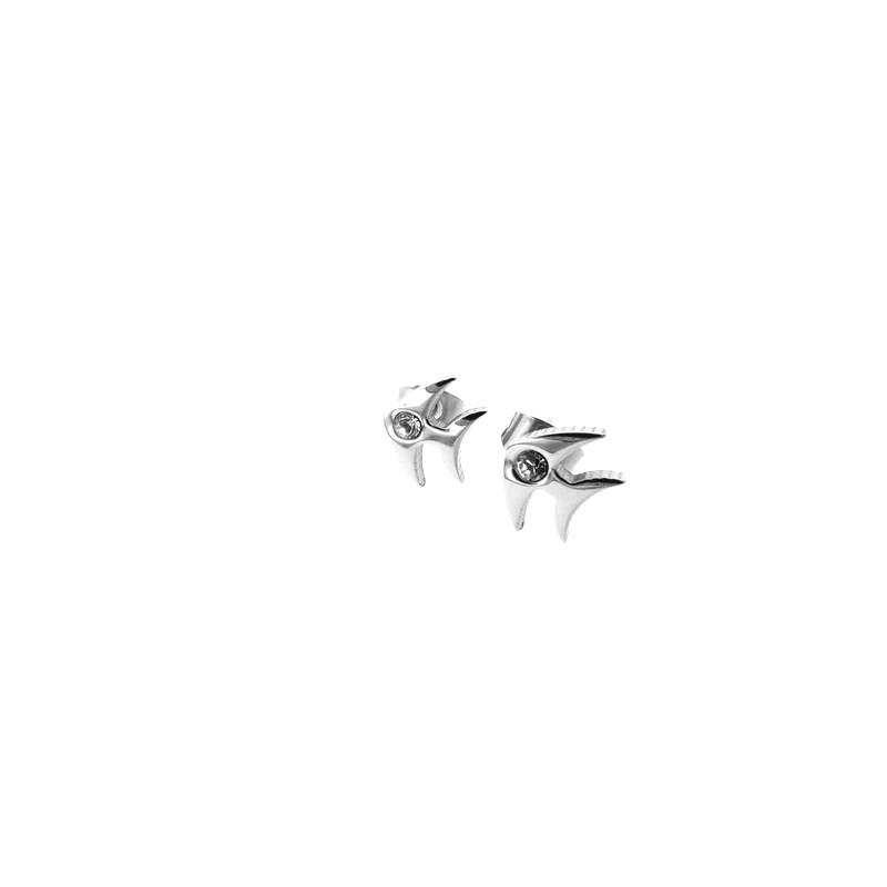 Náušnice kôstky rybička