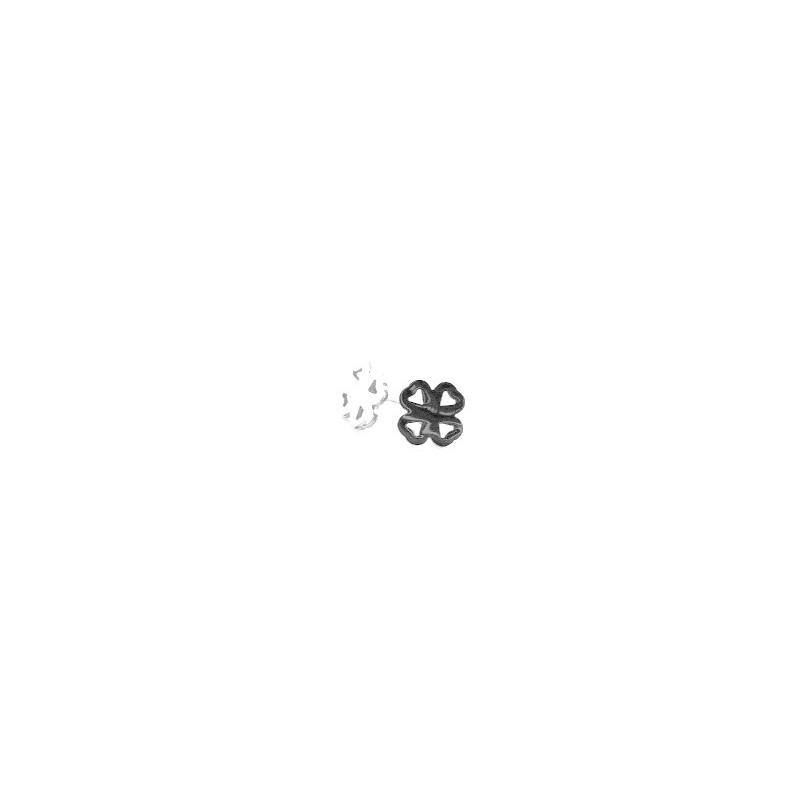 Náušnice pecky ocelový čtyřlístek