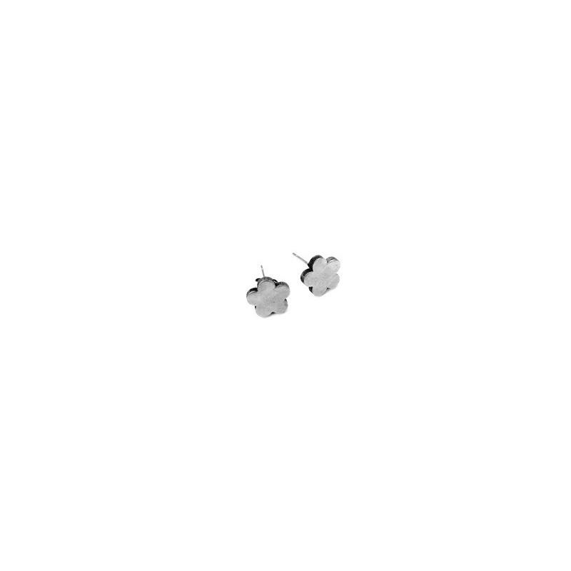 Náušnice pecky nerezové kytka