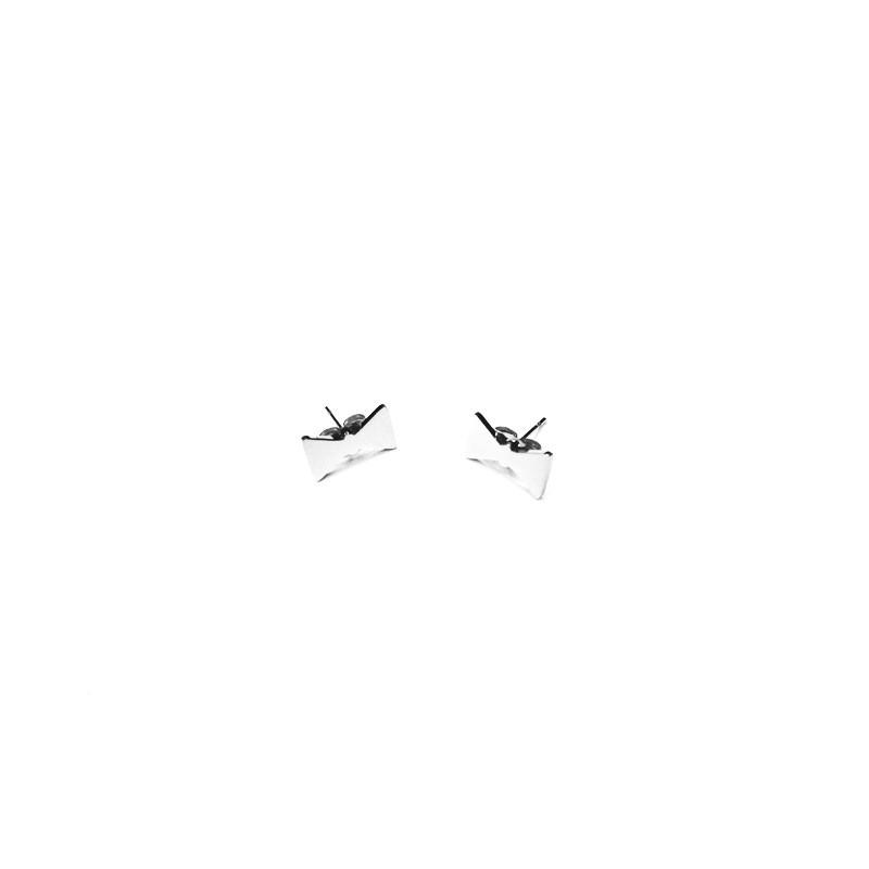 Náušnice oceľové kôstky mašlička, motýlik
