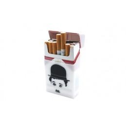 Silikónové puzdro na na cigarety / obal na cigarety gumový motív Charlie Chaplin