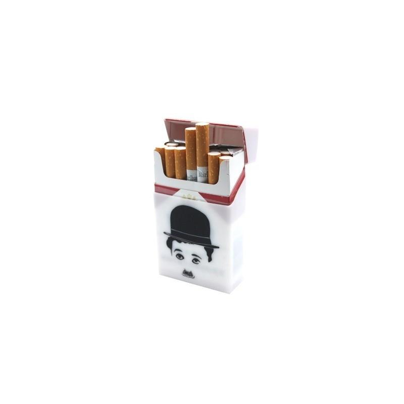 Silikonové  pouzdro na na cigarety / obal na cigarety gumový motiv Charlie Chaplin