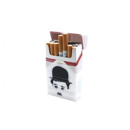 Silikon Schutzhülle für Zigarettenschachteln mit Charlie Chaplin/Gummi Zigarettenbox