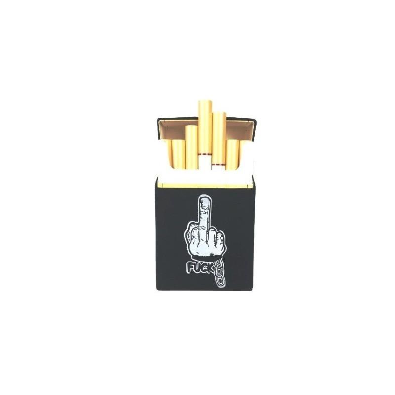 Silikonové pouzdro na na cigarety / obal na cigarety gumový motiv FUCK