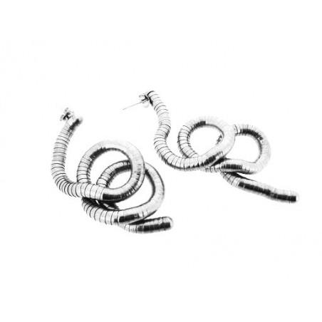 Náušnice dlouhé visací tvarovatelné designové