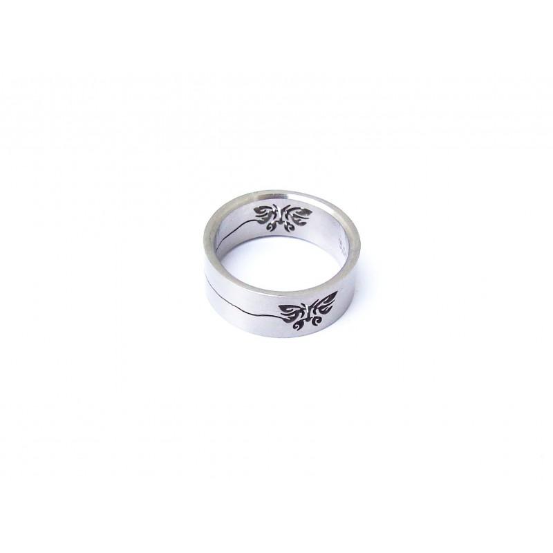 Prsten ocelový  s motivem Motýl