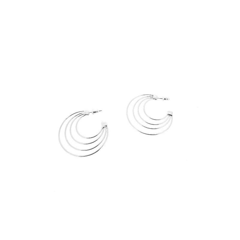 Náušnice spojené velké kruhy