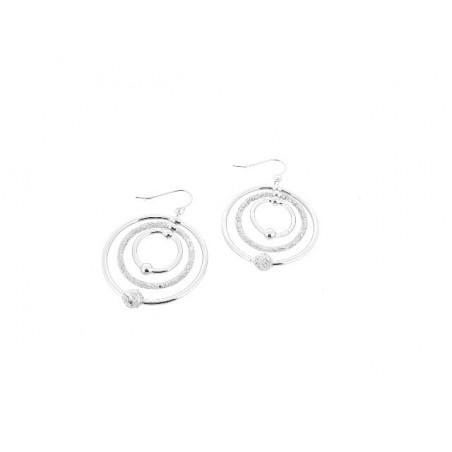 Náušnice velké kruhy s kuličkami a perletí
