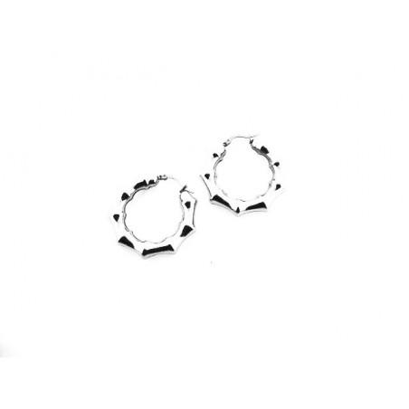 Náušnice výrazné designové kruhy