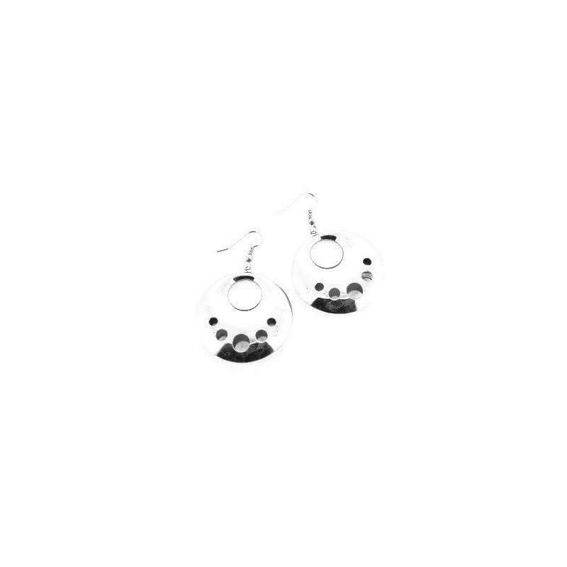 Náušnice visiace maxi kolesá s otvormi