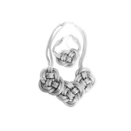 Set bižuterie náramek a náhrdelník uzlíky