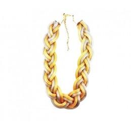 Sada bižutérie náramok a náhrdelník pletenec