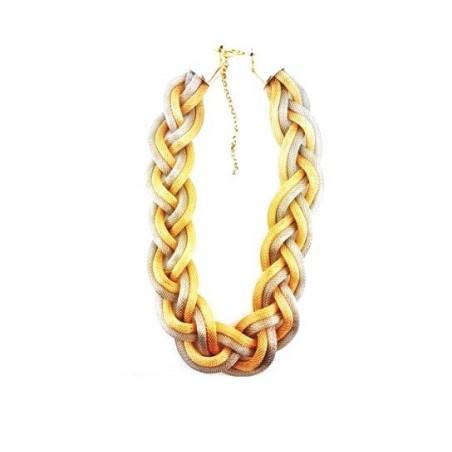 Sada bižuterie náramek a náhrdelník pletenec