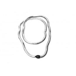 Náhrdelník designový stříbrný had s ozdobou