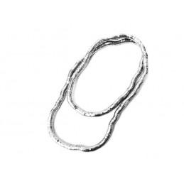 Náhrdelník super dlouhý tvarovatelný stříbrný had