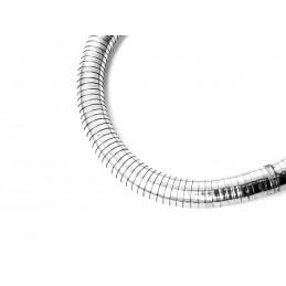 Náramek pevný kruh had stříbrný