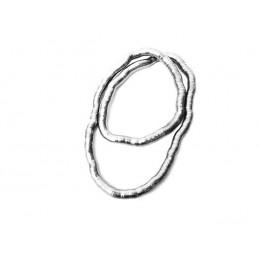 Náhrdelník široký tvarovatelný stříbrný had