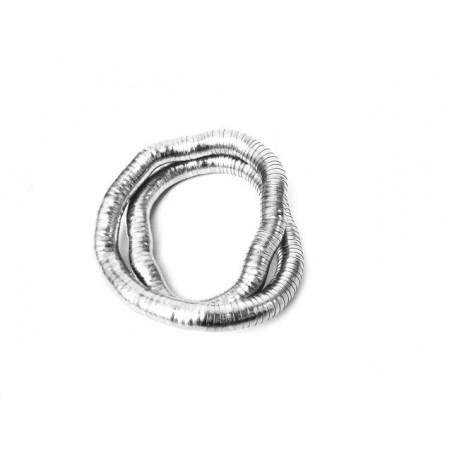 Náramek tvarovatelný široký stříbrný had