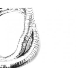 Náramok tvarovateľný široký strieborný had