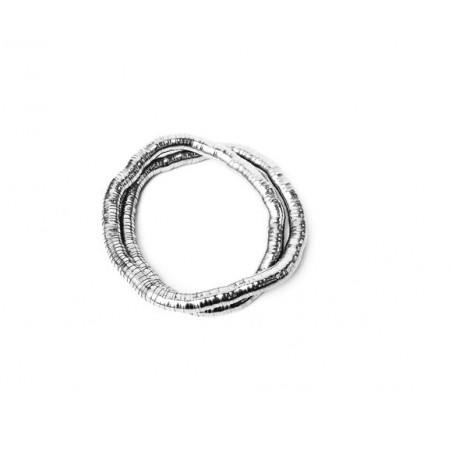 Náramek ohebný tvarovatelný had stříbrný