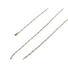 Łańcuszek metalowy owal i kulka