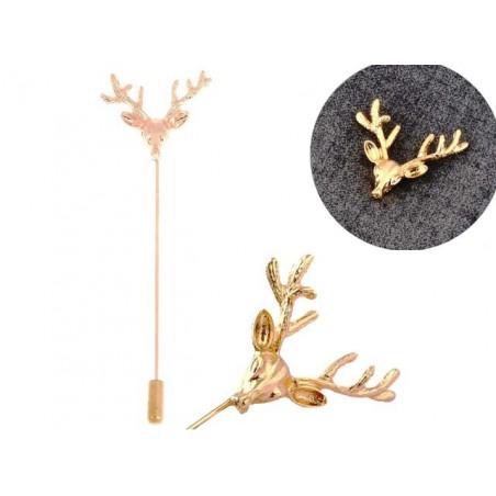 Pánska brošňa ihlice s jeleňom