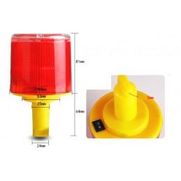 Czerwona lampa solarna / lampa ostrzegawcza