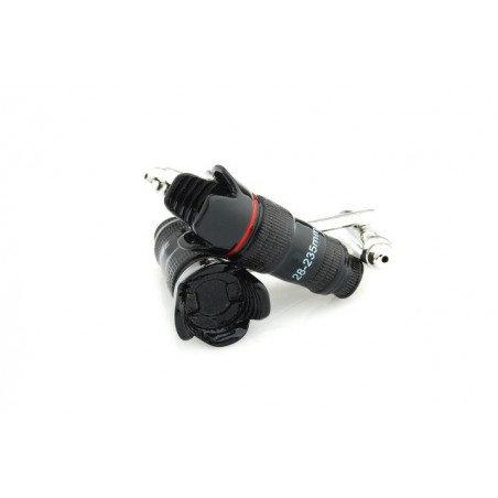 Manžetové knoflíčky objektiv, paparazzi, profesionální fotograf