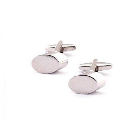 Manžetové knoflíčky stříbrný ovál, elipsa na gravír