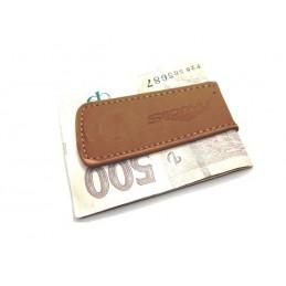 Spona na peníze magnetický klip z imitace kůže