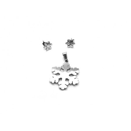 Set šperků náušnice a přívěsek sněhová vločka