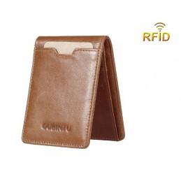 RFID kožená peňaženka, pánska, úzka