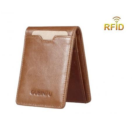 RFID kožená peněženka, pánská, úzká, pravá kůže
