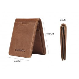 RFID kožená peněženka, pánská, úzká