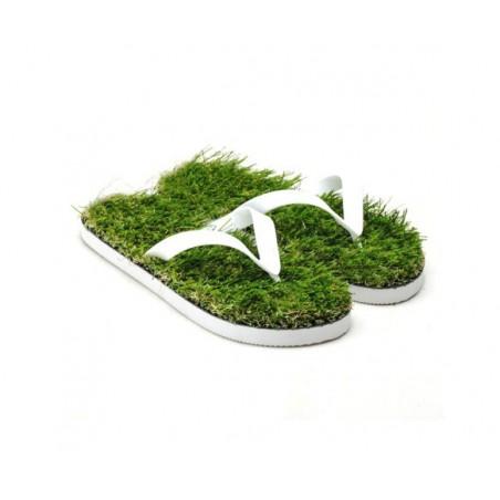 Žabky s trávou, trávové žabky, grass flip flops