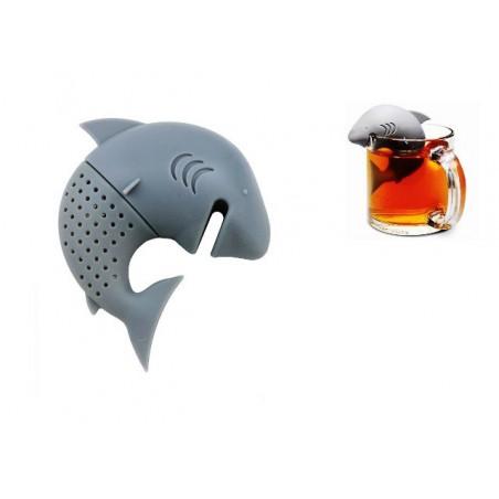 Čajové sítko silikonové žralok, shark
