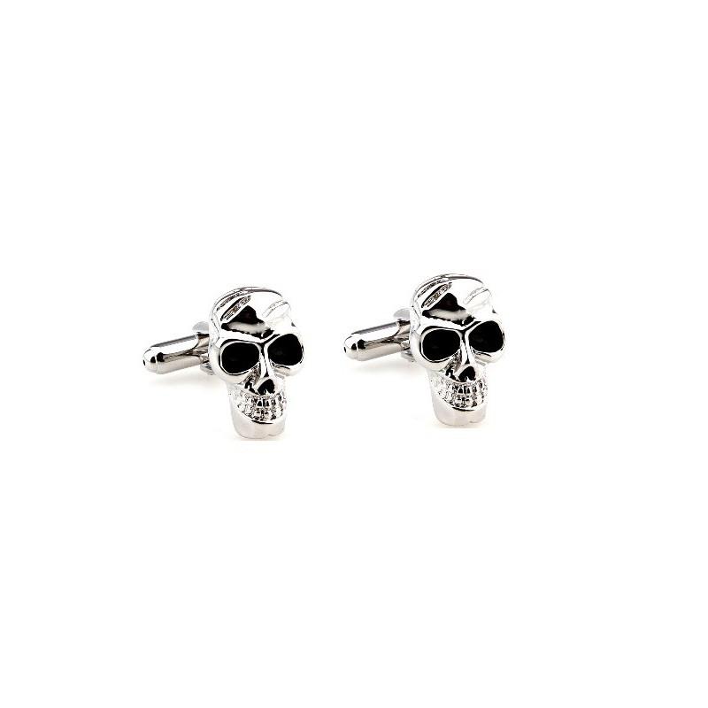 Manžetové knoflíčky oslava smrti - skull / lebka