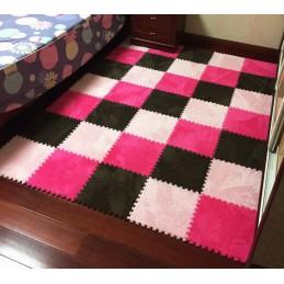 Farebný skladacie puzzle koberec 30x30x1cm
