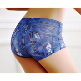 Dámské bezešvé kalhotky džínové, kovbojské