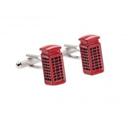 Manžetové gombíky červená telefónna búdka