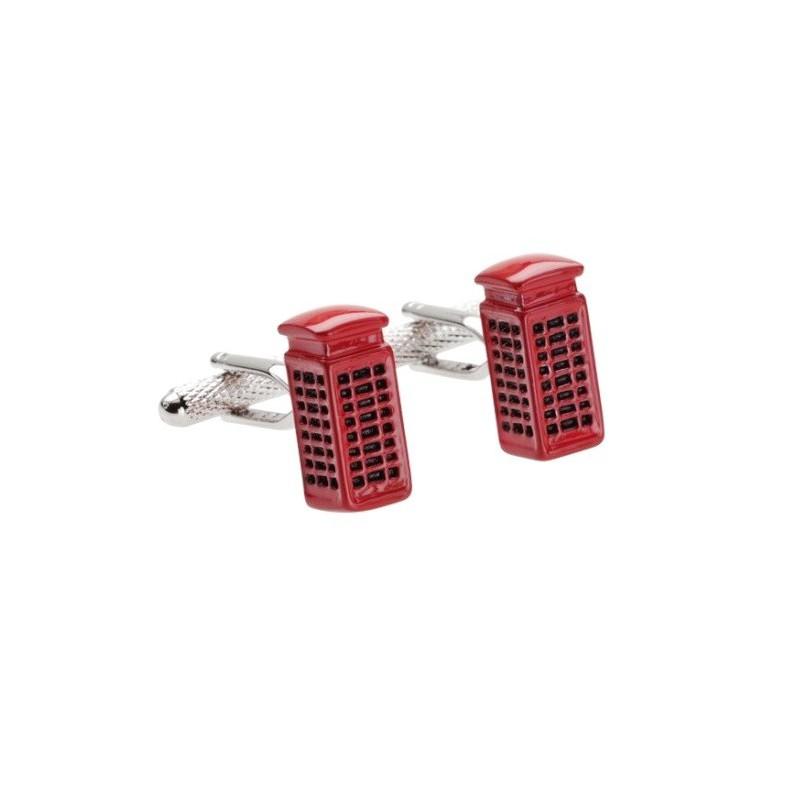 Mandzsettagombok piros telefonfülke