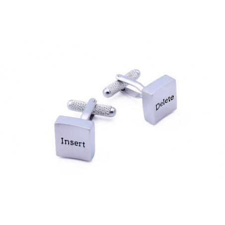 Manžetové knoflíčky tlačítka insert a delete, pro copywritera