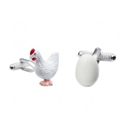 Manžetové knoflíčky slepice, slepička a vejce, vajíčko, pro farmáře