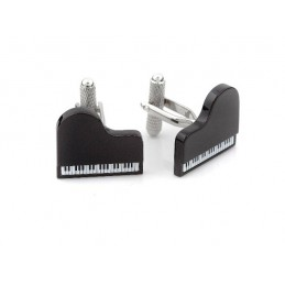 Spinki do mankietów fortepian