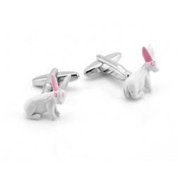 Manžetové knoflíčky bílý králíček, králík
