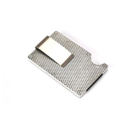 Pouzdro na karty s RFID a sponou na bankovky, úzké, slim