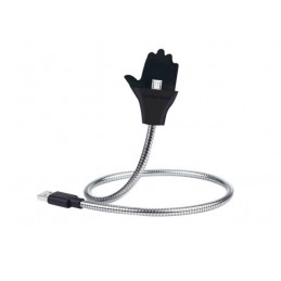 Kabel USB nabíjecí a datový kovový, držák do auta, ruka