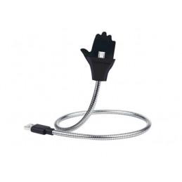 Kabel USB nabíjecí a datový kovový, stojan, držák do auta, ruka, konektor typ micro USB